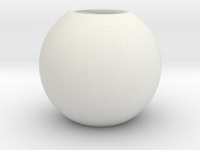 Pandora bead round in White Natural Versatile Plastic