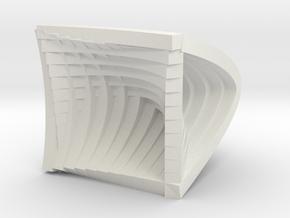 3mm Arches in White Natural Versatile Plastic