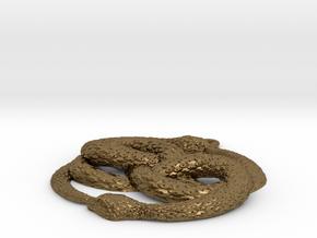 3D-Printed AURYN Medallion in Raw Bronze