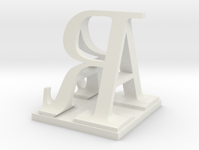 Two way letter / initial A&R size XL in White Strong & Flexible