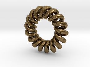 Organic Spiral in Raw Bronze