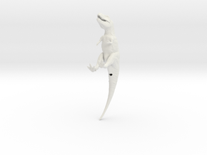 Tyrannosaurus1:72 v1 in White Strong & Flexible