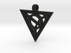 Transgender Warrior Pendant (large) in Black Natural Versatile Plastic