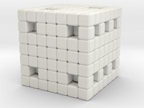 8Bit Die(Part 1 of 2) in White Natural Versatile Plastic