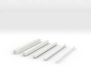 thin bars in White Strong & Flexible