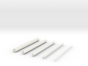 thin rods in White Strong & Flexible
