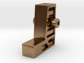 Wing Uranos Replacement Hand Grip in Natural Brass