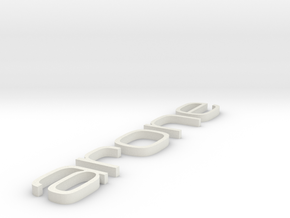 arone letters in White Natural Versatile Plastic
