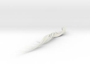 3D Brushstroke1 in White Natural Versatile Plastic