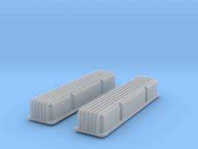 1/12 SBC Finned Valve Covers in Frosted Ultra Detail