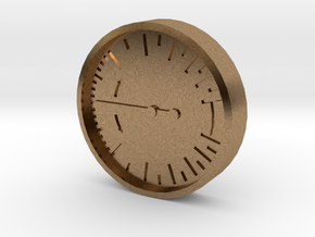 Aviation Button - Vertical Speed Indicator in Natural Brass