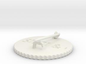 by kelecrea, engraved: SISSI & ocean in White Natural Versatile Plastic