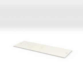 by kelecrea, engraved: Regi's in White Natural Versatile Plastic