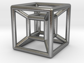 hypercube in Raw Silver