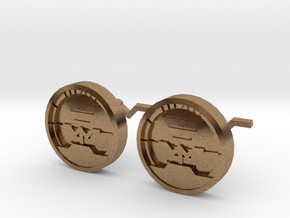 Attitude Indicator Cufflinks in Raw Brass