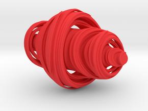 Julia 3D 75mm in Red Processed Versatile Plastic