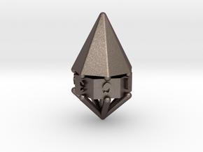 d7 cone in Polished Bronzed Silver Steel