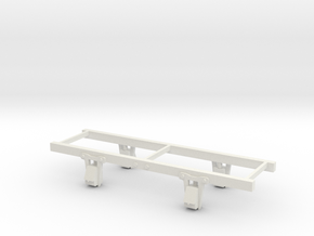Sn2(9mm gauge)  6ft w/b Bobber caboose chassis in White Strong & Flexible