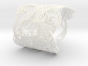 WAVE BANGLE in White Strong & Flexible Polished
