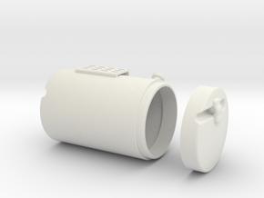 Round-fuel-tank-RH in White Natural Versatile Plastic