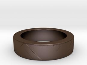Men's Size 10 US Arrow Ring in Polished Bronze Steel
