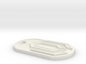 GeekTag: Cerberus in White Natural Versatile Plastic