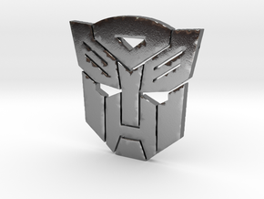 Autobot emblem small in Polished Silver