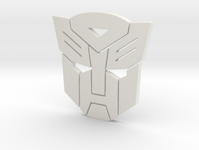 Autobot emblem small in White Natural Versatile Plastic