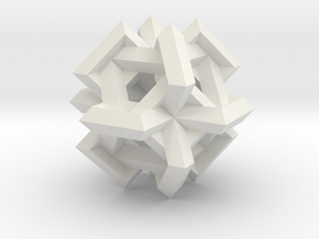 Cuboctahedron of Linked Frames in White Natural Versatile Plastic
