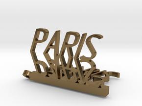 Pendant Paris  in Polished Bronze