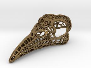 Filigree Raven Skull - LARGE in Natural Bronze