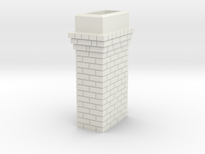 Brick Chimney 03 HO scale in White Strong & Flexible