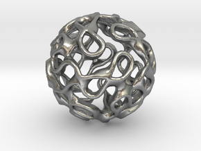 Gyroid Inversion Sphere in Natural Silver