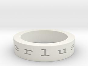wanderlust. Ring Size 10 in White Natural Versatile Plastic