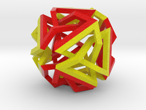 Knot Octahedron in Full Color Sandstone