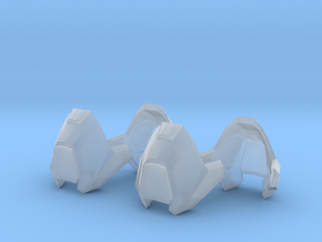 1/6 scale knee armor 2 pairs revised scale in Smooth Fine Detail Plastic
