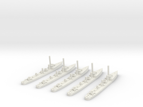 HMS Thanet (Admiralty S class) 1/1800 x5 in White Natural Versatile Plastic