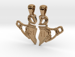Claddagh Pendants 'Best Friends For Life' in Polished Brass