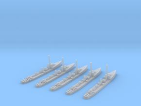HMS Thanet (Admiralty S class) 1/1800 x5 in Smooth Fine Detail Plastic