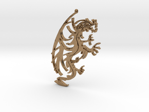 Dragon Pendant in Natural Brass