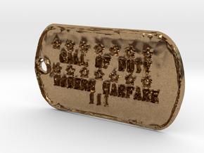 Call of Duty Modern Warfare 3 Dog Tag in Natural Brass