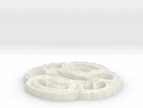 Tsuba  in White Natural Versatile Plastic