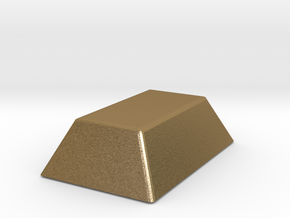 Mini Gold Bar in Polished Gold Steel