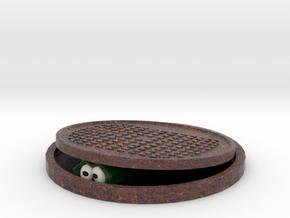 Crocodile in the Sewer in Full Color Sandstone