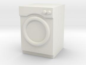1:24 Washer/Dryer in White Natural Versatile Plastic