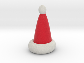 Santa Hat  ornament in Full Color Sandstone