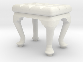 1:24 Tufted Stool in White Natural Versatile Plastic