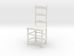 1:24 Lad Chair 9 in White Natural Versatile Plastic