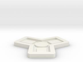 Catan Mold in White Natural Versatile Plastic