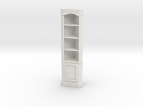 1:24 Corner Cabinet, Tall in White Strong & Flexible